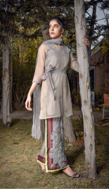 Buy Exclusive Grey Party Wear – Aqs94 Online In USA, Uk & Pakistan