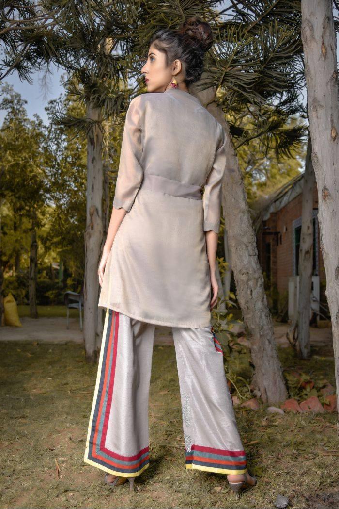 Buy Exclusive Grey Party Wear – Aqs94 Online In USA, Uk & Pakistan - 01