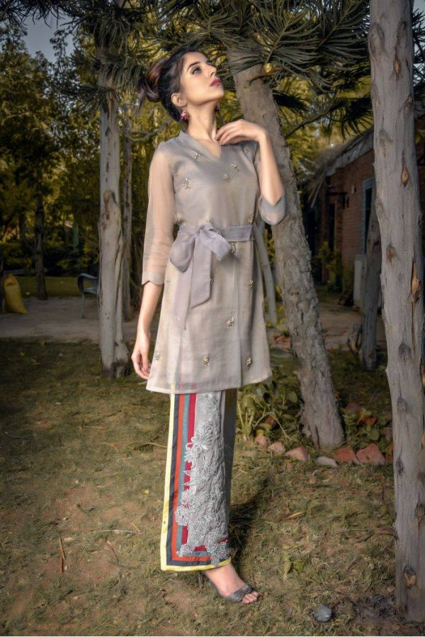 Buy Exclusive Grey Party Wear – Aqs94 Online In USA, Uk & Pakistan - 03
