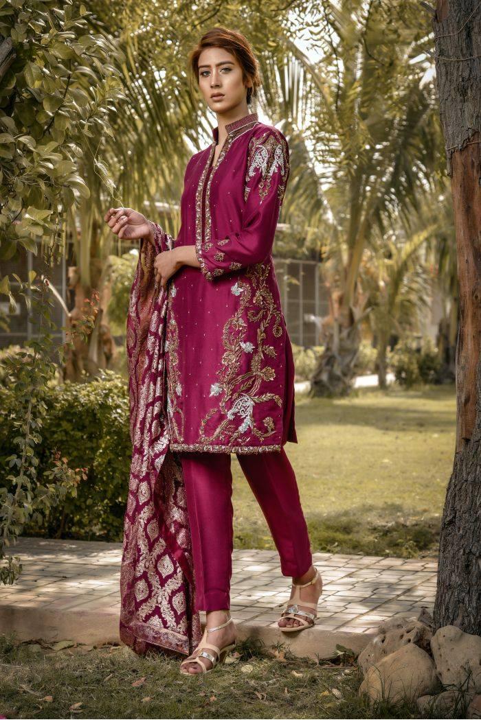 Buy Exclusive Plum Bridal Wear – Sdbd30 Online In USA, Uk & Pakistan