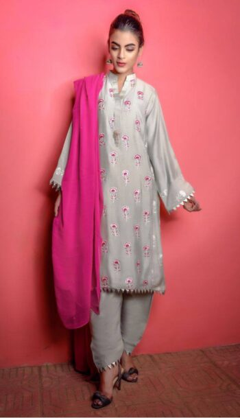 Buy Exclusive Mint Green And Shocking Pink Casual Wear – Sds217 Online In USA, Uk & Pakistan