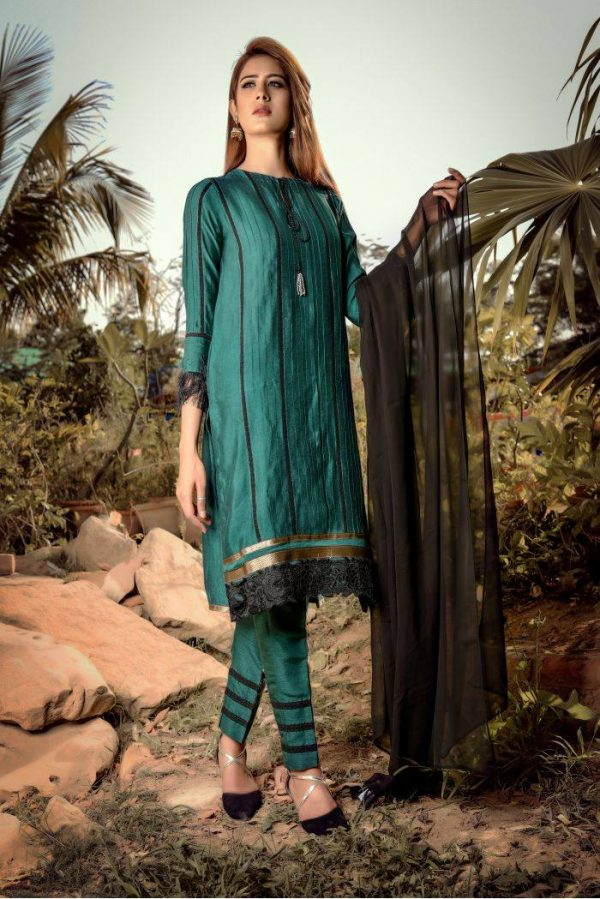 Buy Exclusive Green And Black Casual Wear – Sds248 Online In USA, Uk & Pakistan