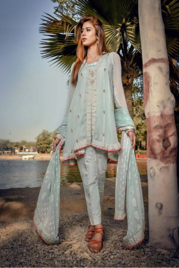 Buy Exclusive Aqua Party Wear – Sds249 Online In USA, Uk & Pakistan