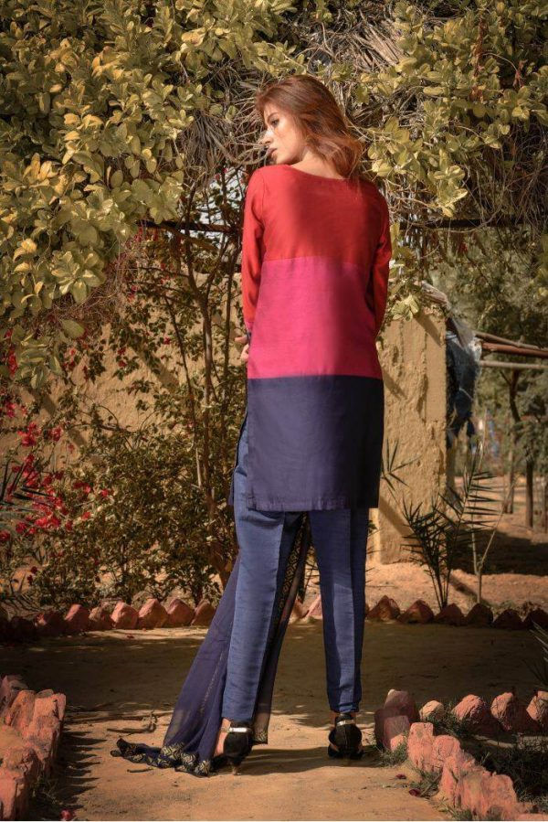 Buy Exclusive Red,Blue And Pink Party Wear – Sds261 Online In USA, Uk & Pakistan - 01