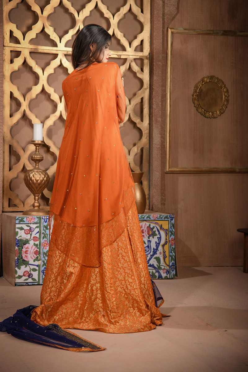 Buy Exclusive RUSAt And Blue Bridal Wear – Aqbd26 Online In USA, Uk & Pakistan - 03