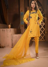 Yellow Pakistani Dress