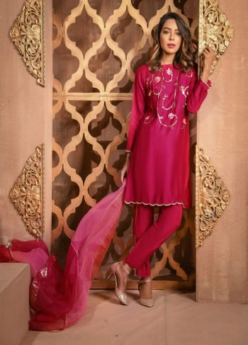 Buy Exclusive Shocking Pink Casual Wear – Sds297 Online In USA, Uk & Pakistan - 03