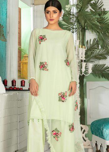Buy Exclusive Pista Green Party Wear – Sds325 Online In USA, Uk & Pakistan