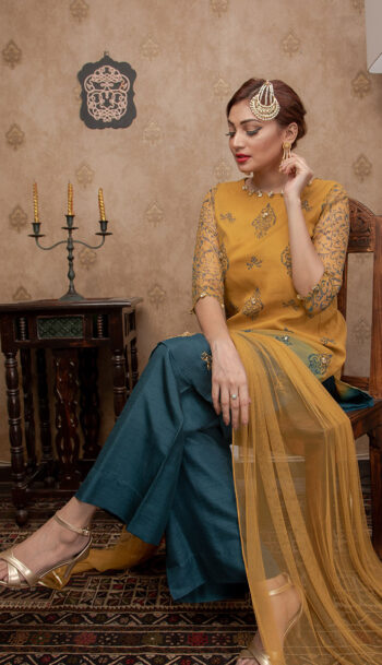 TEAL & MUSTARD LUXURY PRET