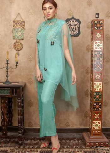 Buy Exclusive Aqua Party Wear – Aqs255 Online In USA, Uk & Pakistan