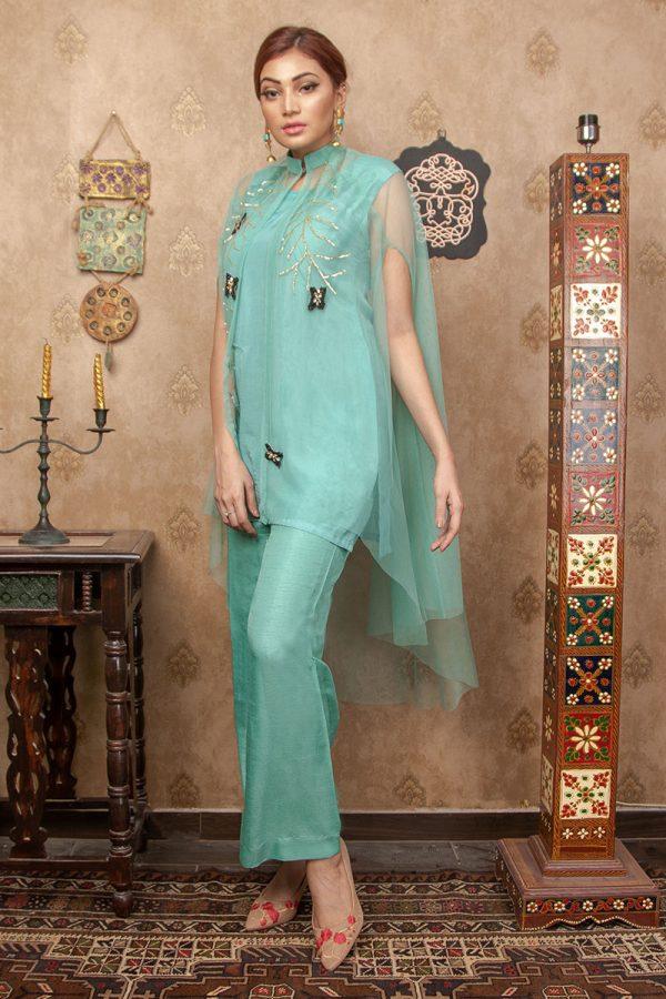 Buy Exclusive Aqua Party Wear – Aqs255 Online In USA, Uk & Pakistan