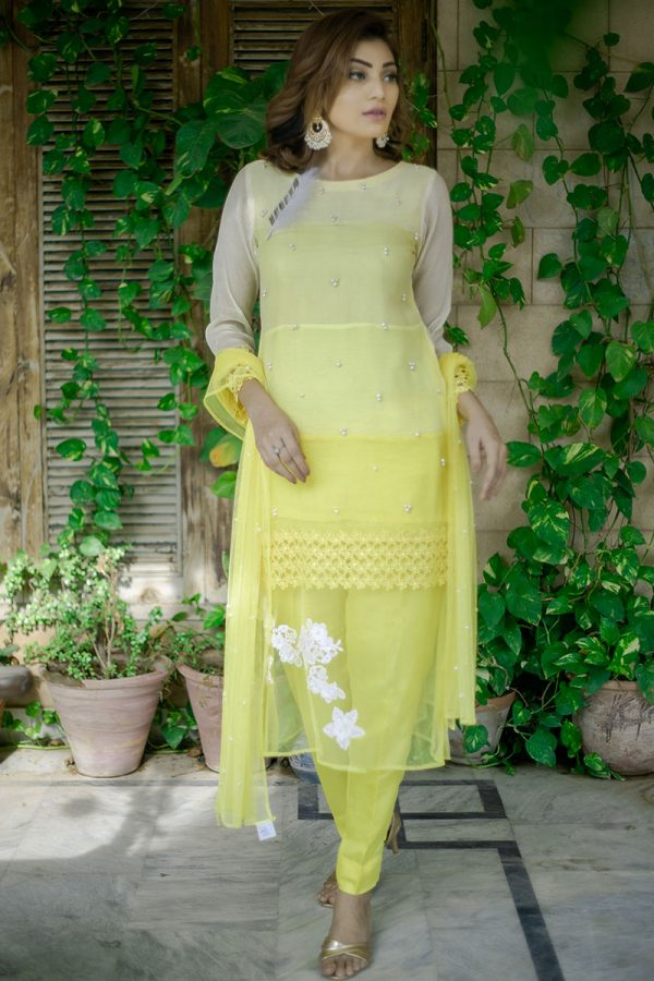 YELLOW PARTY WEAR