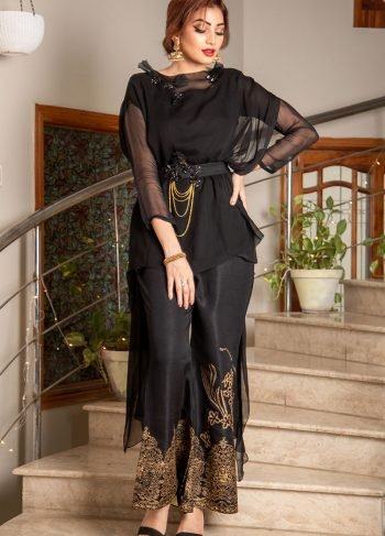 Buy Exclusive Black Party Wear – Sds373 Online In USA, Uk & Pakistan