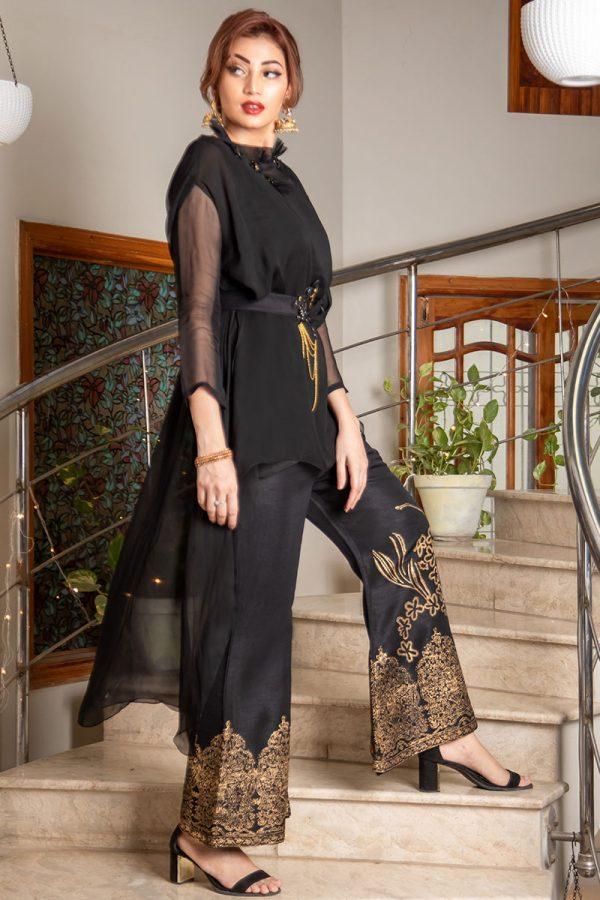 Buy Exclusive Black Party Wear – Sds373 Online In USA, Uk & Pakistan - 01