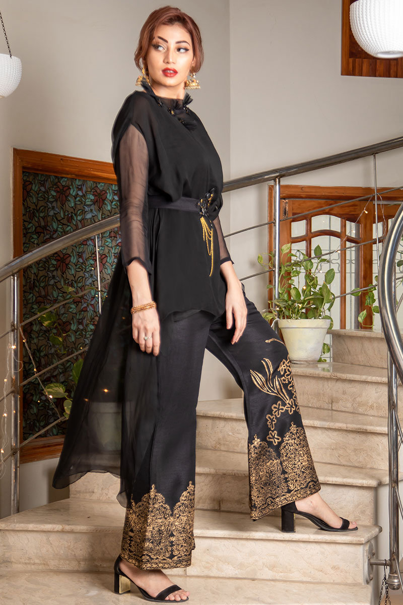 Buy Exclusive Black Party Wear – Sds373 Online In USA, Uk & Pakistan - 01
