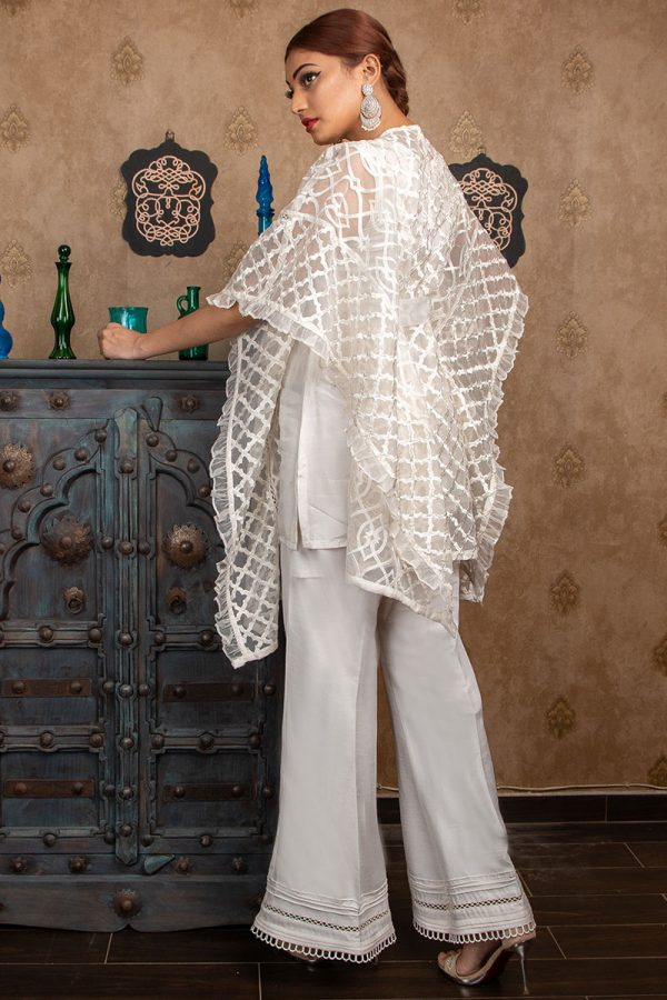 Buy Exclusive Off-White Party Wear – Sds383 Online In USA, Uk & Pakistan - 01