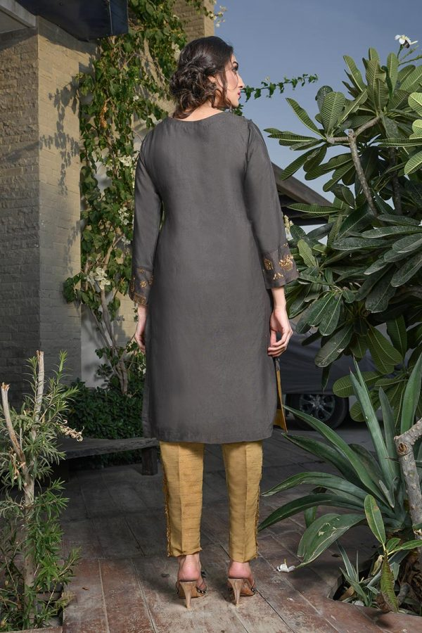Buy Exclusive Deep Brown Color Dress – Afc21 Online In USA, Uk & Pakistan - 01