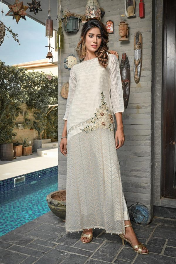 Buy Exclusive Ivory Party Wear – Afc30 Online In USA, Uk & Pakistan - 05