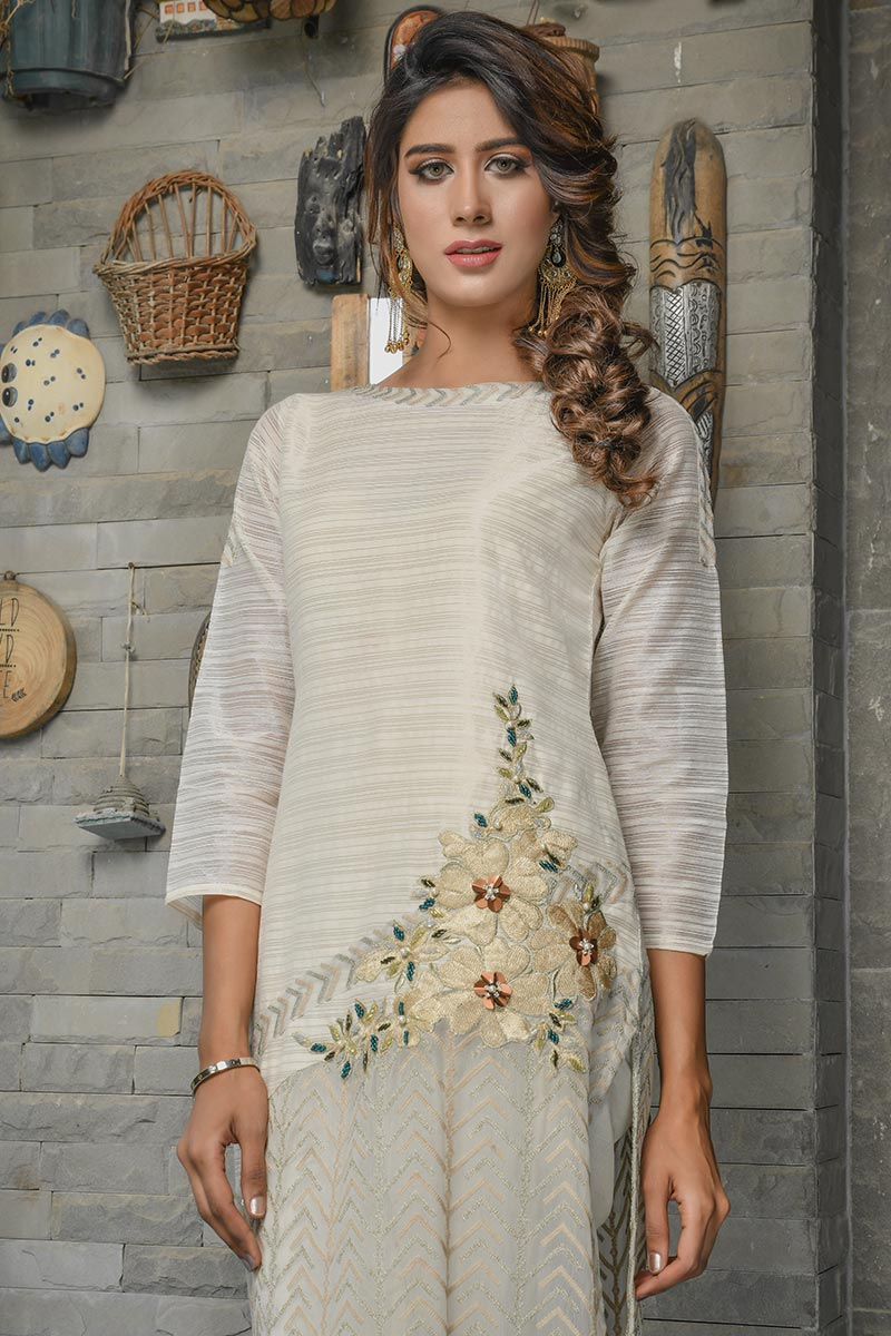Buy Exclusive Ivory Party Wear – Afc30 Online In USA, Uk & Pakistan