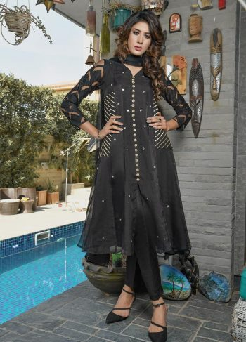 Buy Exclusive Black Party Wear – Aqs218 Online In USA, Uk & Pakistan - 04