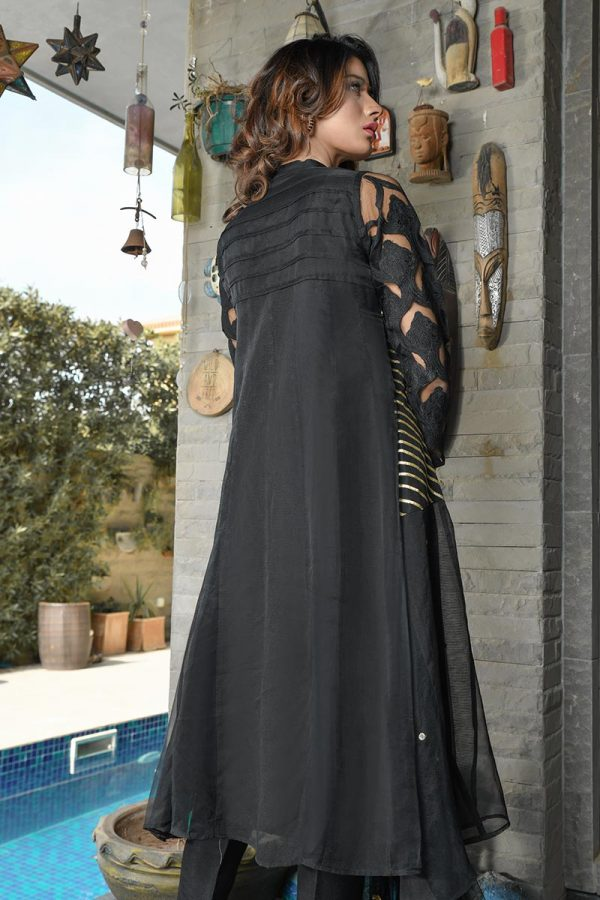 Buy Exclusive Black Party Wear – Aqs218 Online In USA, Uk & Pakistan - 01