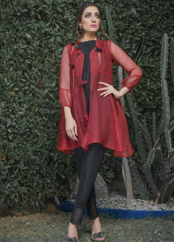 RED AND BLACK PARTY WEAR