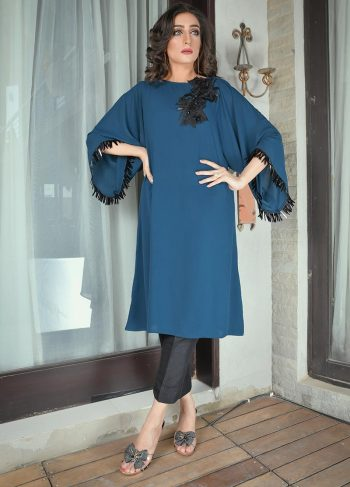 Buy Exclusive Teal Party Wear – Aqs298 Online In USA, Uk & Pakistan