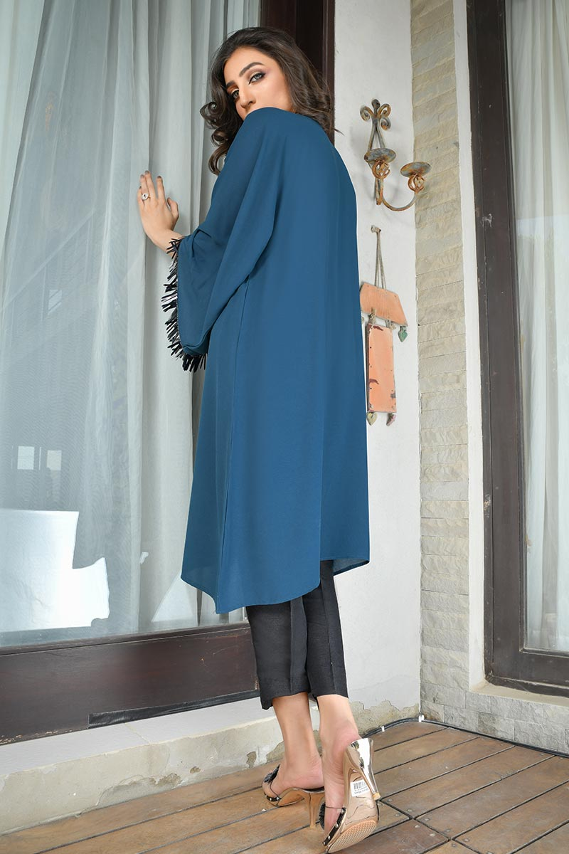 Buy Exclusive Teal Party Wear – Aqs298 Online In USA, Uk & Pakistan - 01