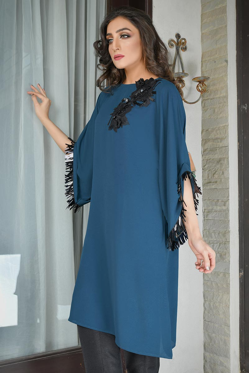 Buy Exclusive Teal Party Wear – Aqs298 Online In USA, Uk & Pakistan - 03