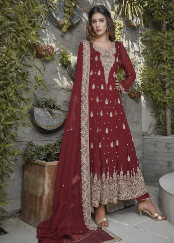 MAROON BRIDAL WEAR