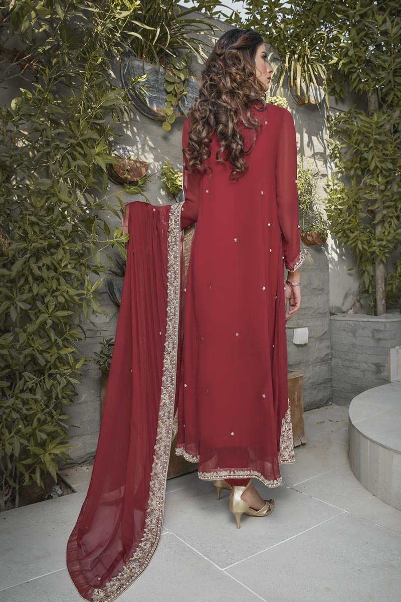 Buy Exclusive Maroon Bridal Wear – G19662 Online In USA, Uk & Pakistan - 01
