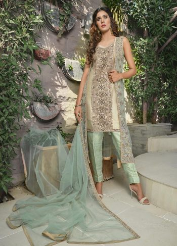 MINT GREEN AND SKIN BRIDAL WEAR