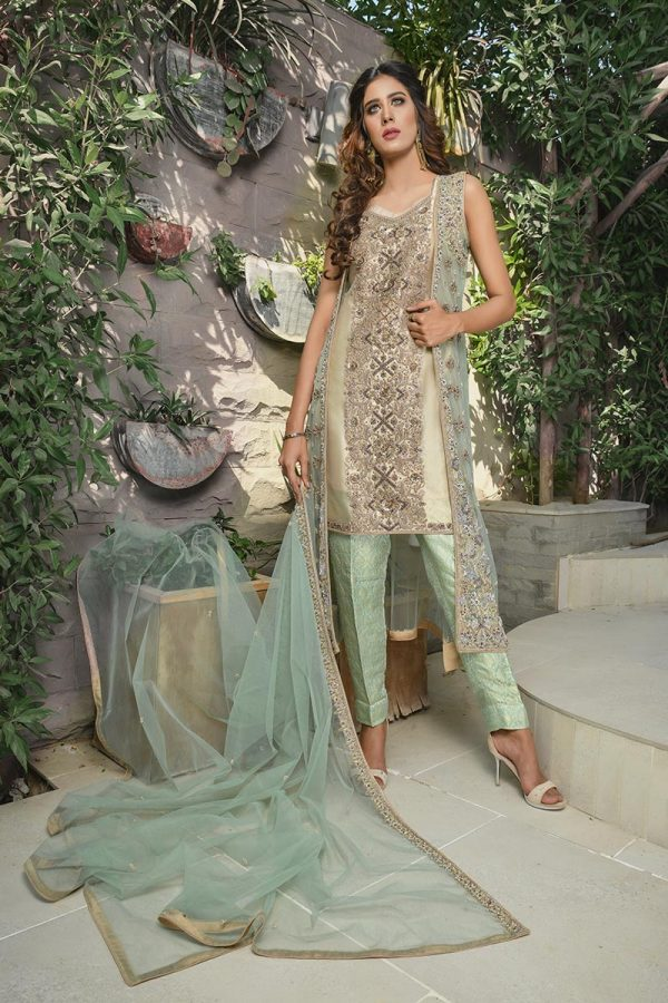 Buy Exclusive Mint Green And Skin Bridal Wear – G21119 Online In USA, Uk & Pakistan