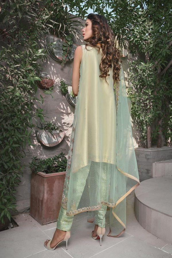 Buy Exclusive Mint Green And Skin Bridal Wear – G21119 Online In USA, Uk & Pakistan - 01