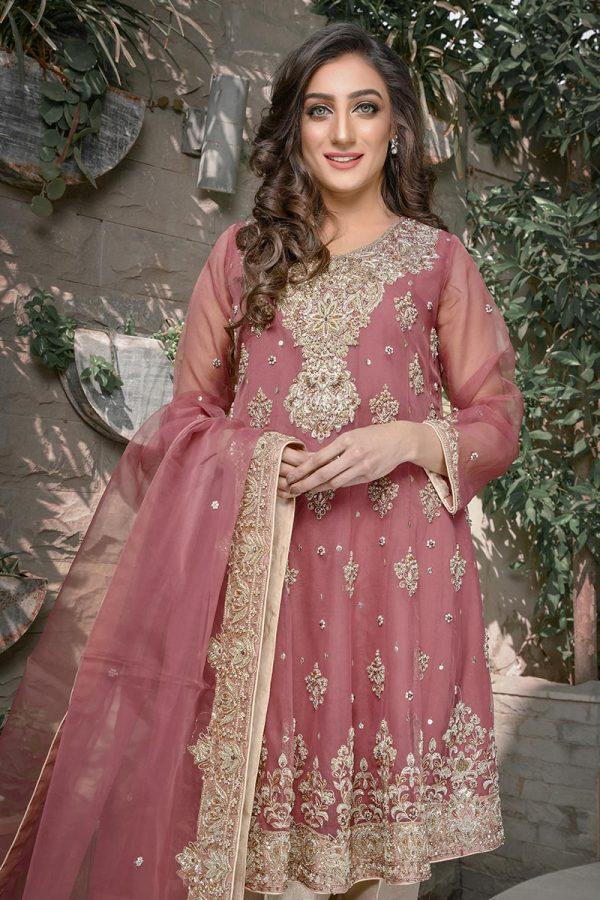 Buy Exclusive Tea Pink Bridal Wear – G21564 Online In USA, Uk & Pakistan