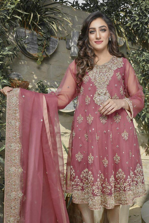 Buy Exclusive Tea Pink Bridal Wear – G21564 Online In USA, Uk & Pakistan - 03