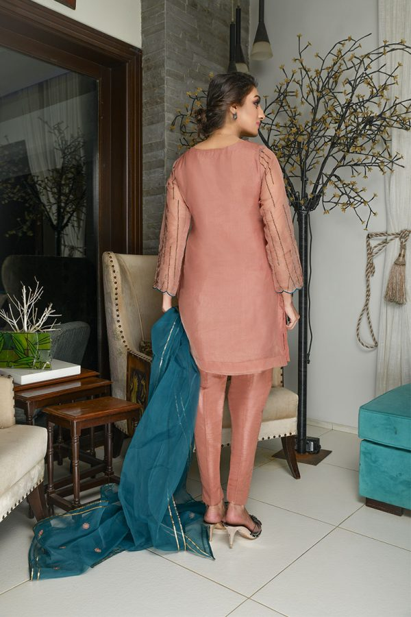 Buy Exclusive Tea Pink Party Wear – Sds381 Online In USA, Uk & Pakistan - 01
