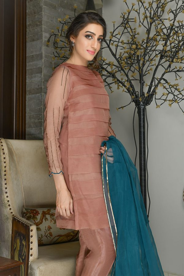 Buy Exclusive Tea Pink Party Wear – Sds381 Online In USA, Uk & Pakistan