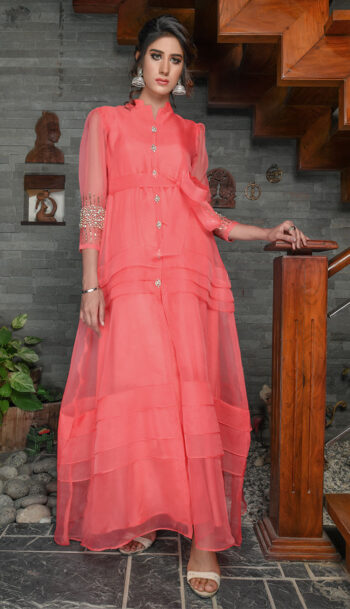 Buy Exclusive Coral Party Wear – Sds389 Online In USA, Uk & Pakistan