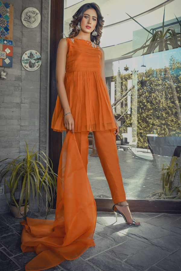 Buy Exclusive RUSAt Party Wear – SDS91 Online In USA, Uk & Pakistan - 12