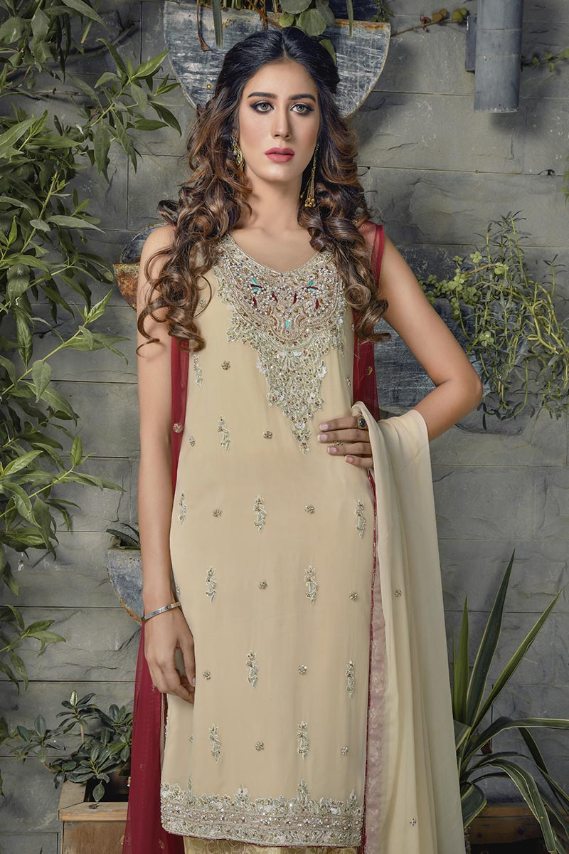 Buy Exclusive Maroon And Gold Bridal Wear – G16520 Online In USA, Uk & Pakistan - 03