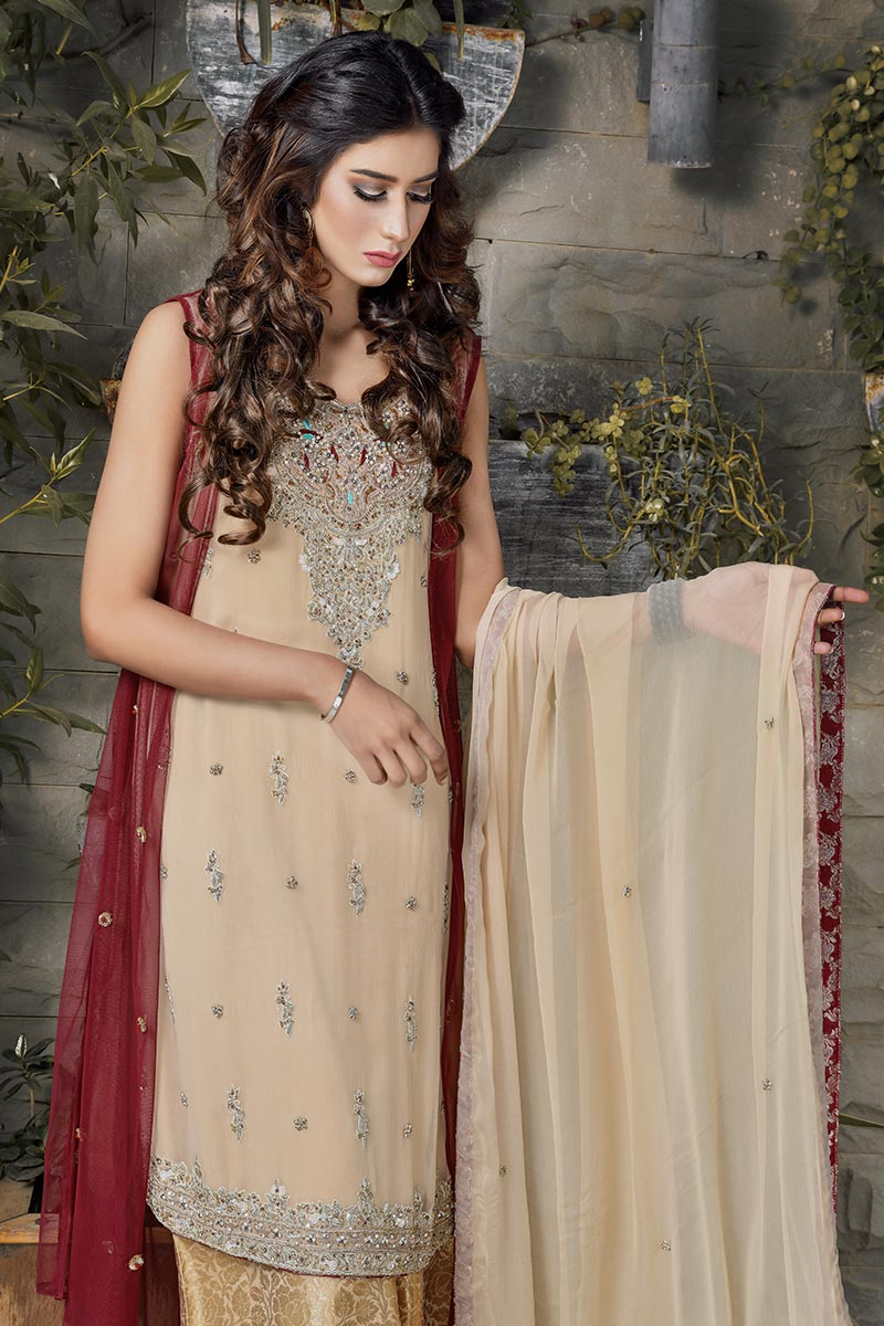 Buy Exclusive Maroon And Gold Bridal Wear – G16520 Online In USA, Uk & Pakistan - 04