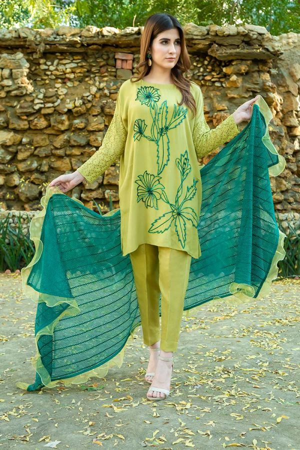APPLE GREEN AND SEA GREEN PARTY WEAR