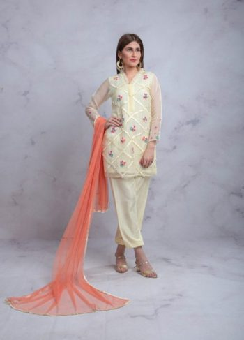 YELLOW AND PEACH LUXURY PRET
