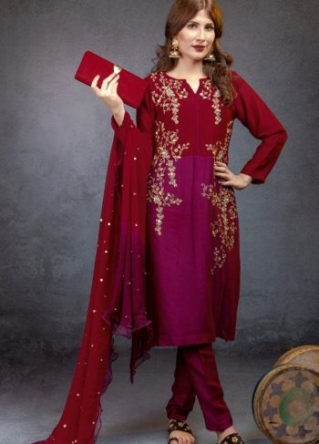 EXCLUSIVE MAROON AND MARGENTA FORMAL