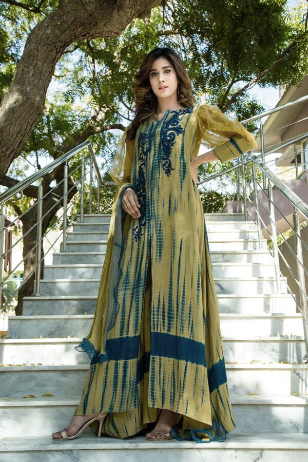 Buy Exclusive Olive Green Luxury Pret –Sds450 Online In USA, Uk & Pakistan