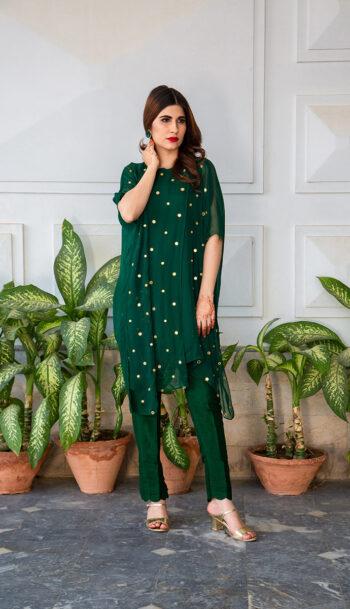 Buy Exclusive Emerald Green Luxury Pret – Sds483 Online In USA, Uk & Pakistan
