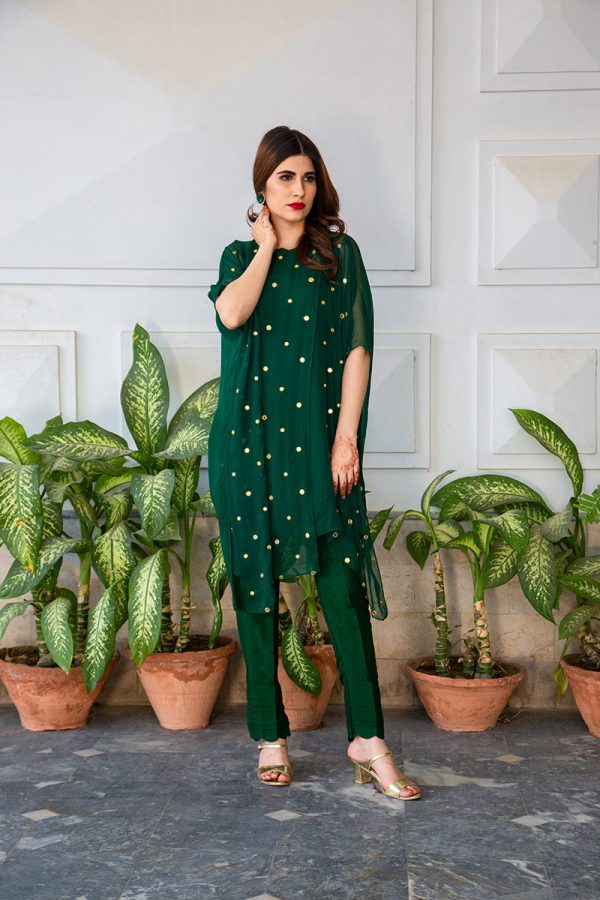 Buy Exclusive Emerald Green Luxury Pret – Sds483 Online In USA, Uk & Pakistan