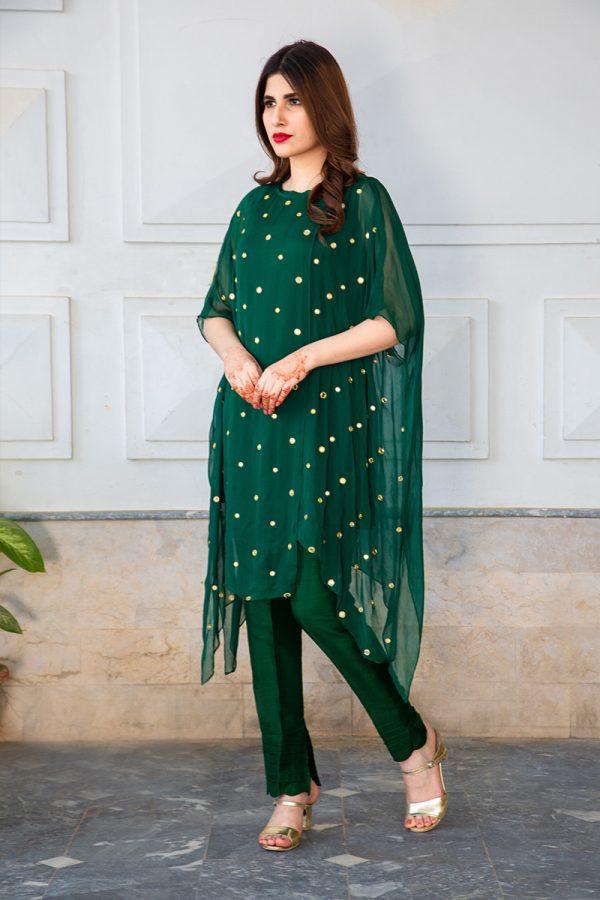 Buy Exclusive Emerald Green Luxury Pret – Sds483 Online In USA, Uk & Pakistan - 01