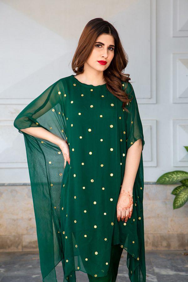 Buy Exclusive Emerald Green Luxury Pret – Sds483 Online In USA, Uk & Pakistan - 02